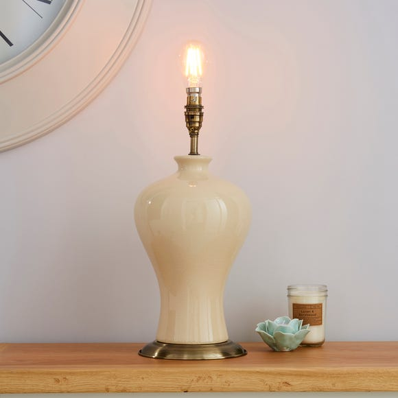 Ginger Jar Ceramic Ivory Table Lamp Base White