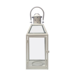 Decorative White Metal Lantern