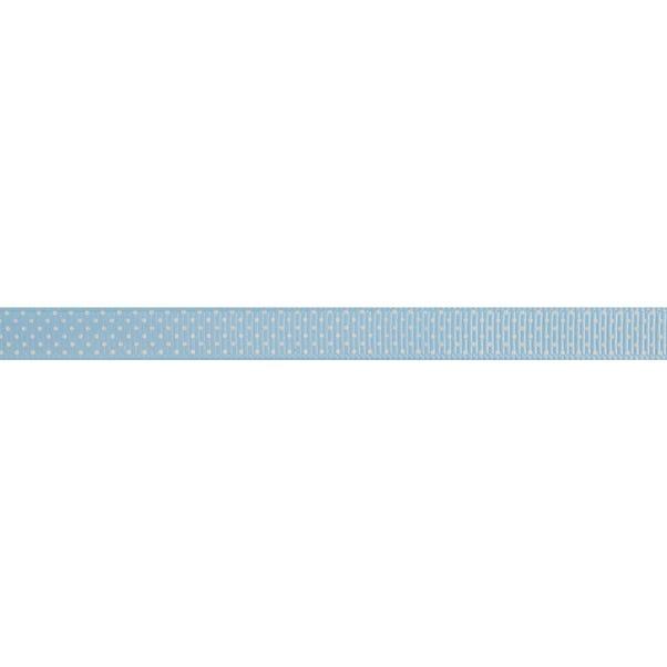 Small Polka Dot Blue Ribbon Blue