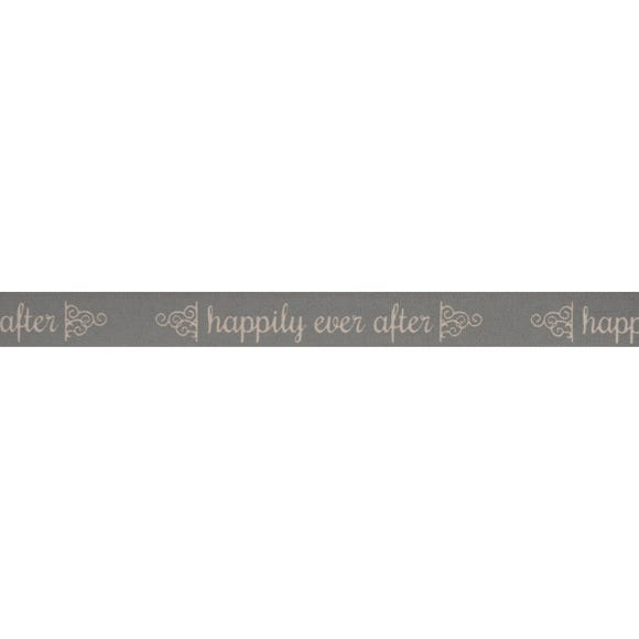 Happily Ever After Grey Ribbon