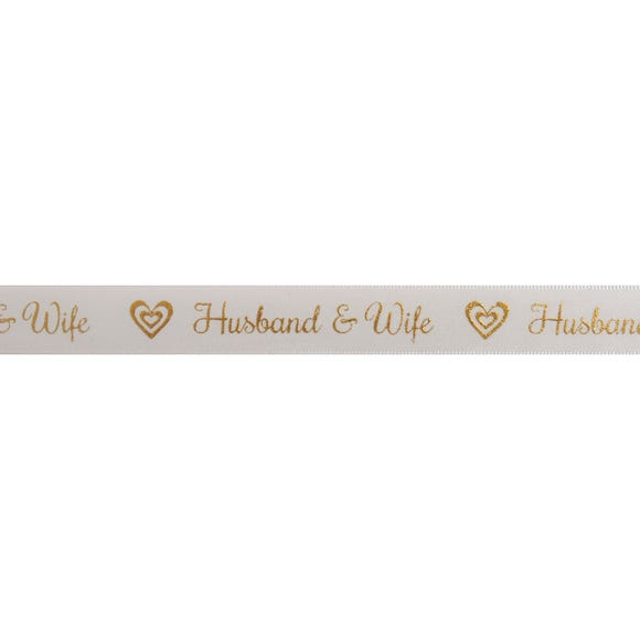Husband and Wife Ribbon Gold