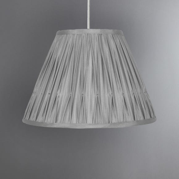 Valerie Pleat Candle Shade Grey undefined