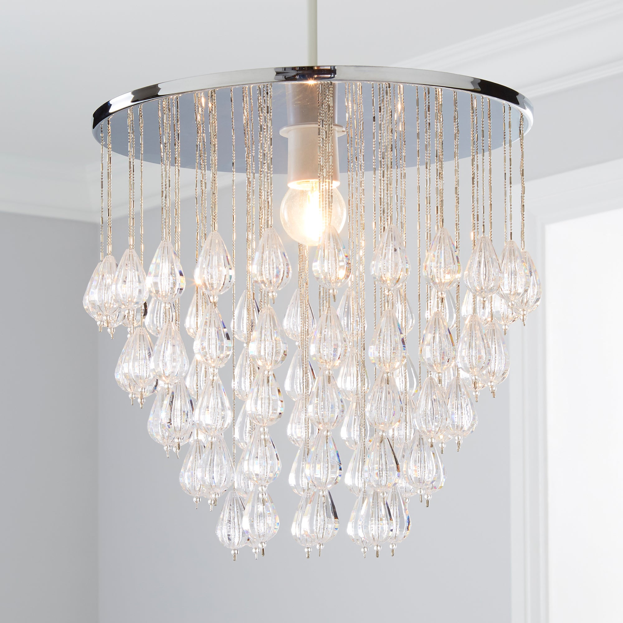 Click to view product details and reviews for Livvy Jewel Chrome Easy Fit Pendant Chrome.