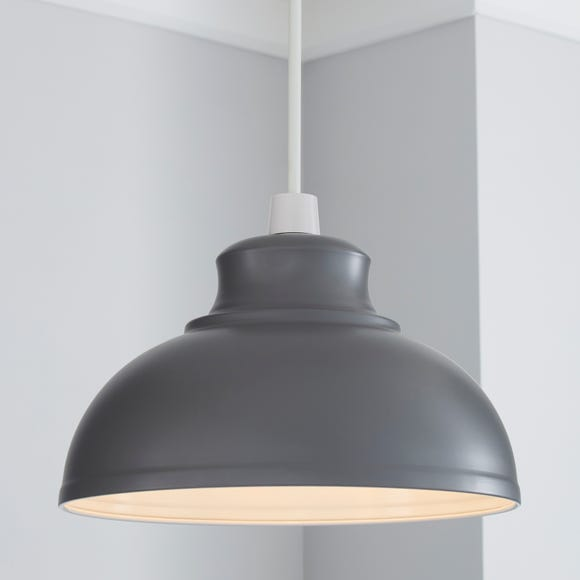 Galley Grey Easy Fit Pendant Grey
