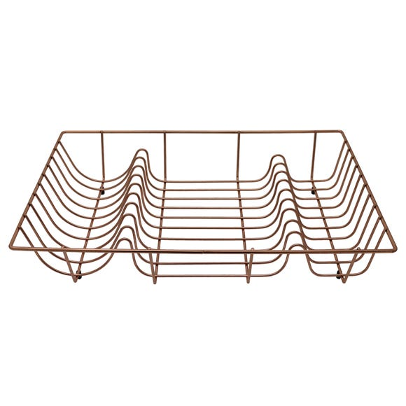 Copper Effect Wire Draining Rack Natural