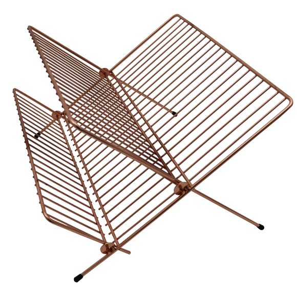 Copper Effect Wire Folding Draining Rack Copper