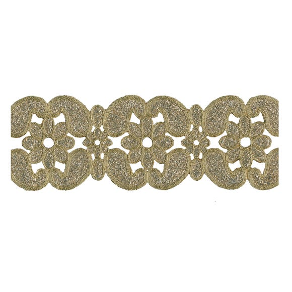 Brocade Antique Trim Gold