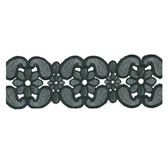Brocade Antique Trim Black