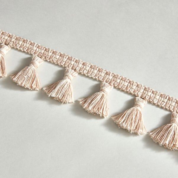 Cotton Linen Tassel Fringe Linen (Natural)