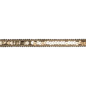 Gold Sequin Metallic Edged Ribbon