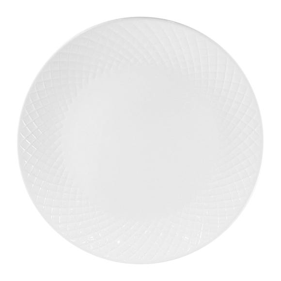 Quilted Dinner Plate White White