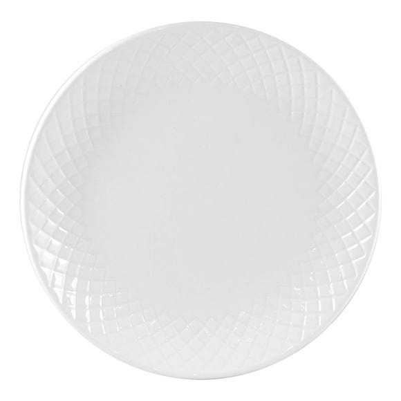 Quilted White Side Plate White