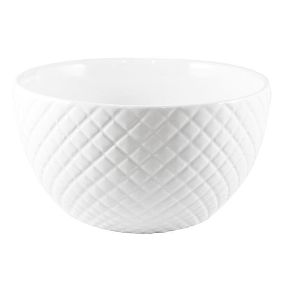 Quilted White Bowl White