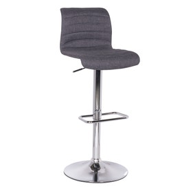 Vigo Bar Stool Grey Fabric