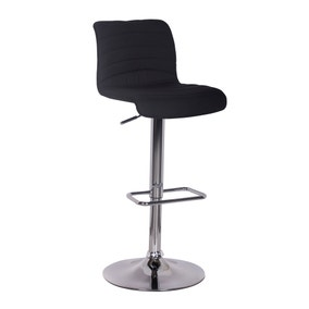 Vigo Bar Stool Black Fabric