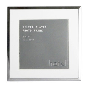 Hotel Silver 4x4 Photo Frame