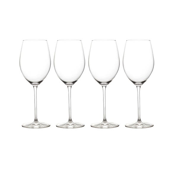 Elegance Pack of 4 White Wine Glasses Clear