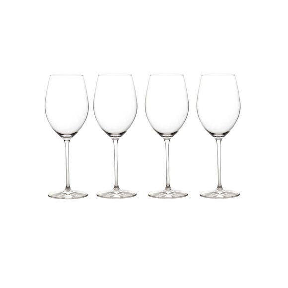 Elegance Pack of 4 Red Wine Glasses Clear