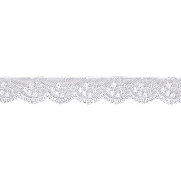 Rayon Embroidered Tulle Lace Ribbon