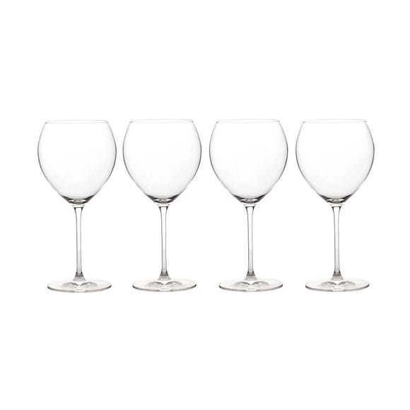 Elegance Pack of 4 Burgundy Wine Glasses Burgundy (Brown)