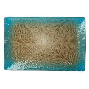Star Burst Reactive Glaze Mint Platter