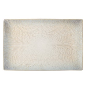 Star Burst Reactive Glaze White Platter