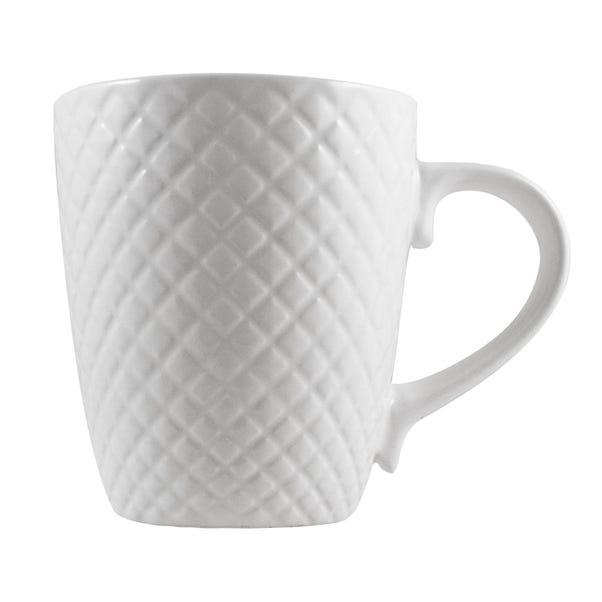 Quilted White Mug White