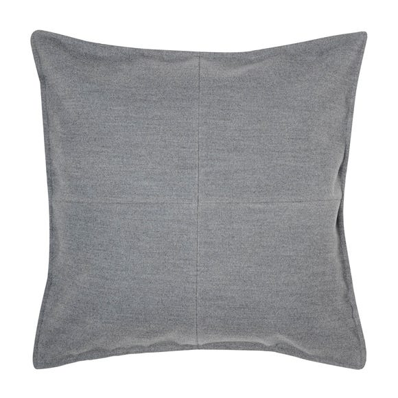 Large Grey Patchwork Felt Cushion Grey
