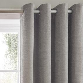 Dorma Lymington Grey Eyelet Curtains