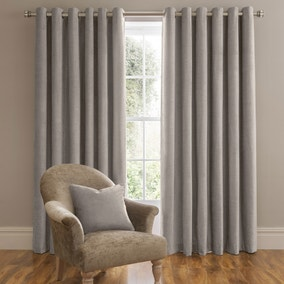 Dorma Lymington Grey Eyelet Curtains