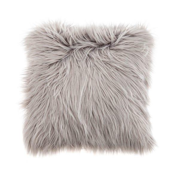 Faux Fur Grey Cushion Grey