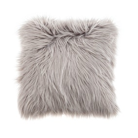 Faux Fur Grey Cushion