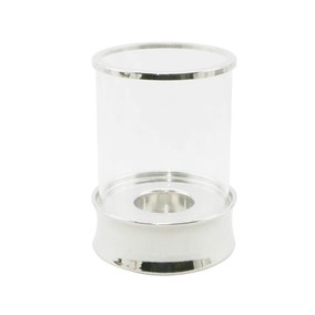 5A Fifth Avenue Hurricane Silver Tealight Lantern