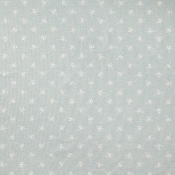 Bees Duck Egg Cotton Fabric