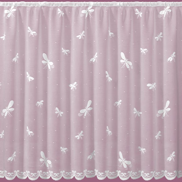 Dragonfly White Lace Panel undefined