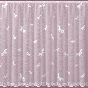 Dragonfly White Lace Panel