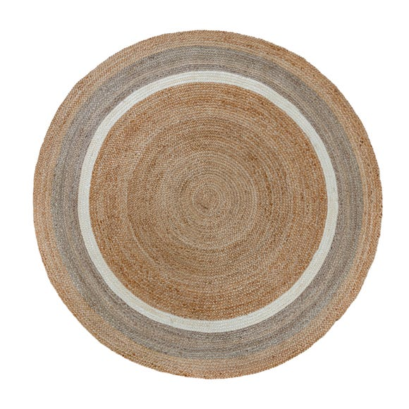 Natural Jute Border Circle Rug  undefined