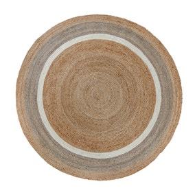 Natural Jute Border Circle Rug