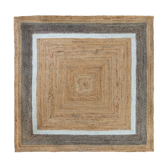 Natural Jute Border Rug  undefined