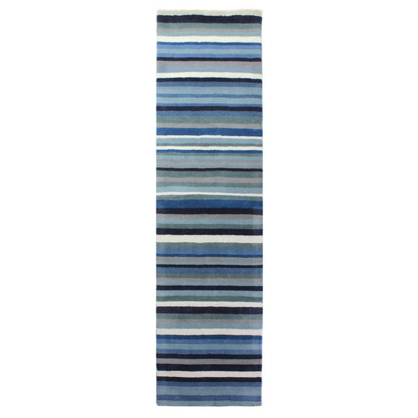 Blue Ocean Stripe Runner Blue