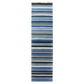 Blue Ocean Stripe Runner