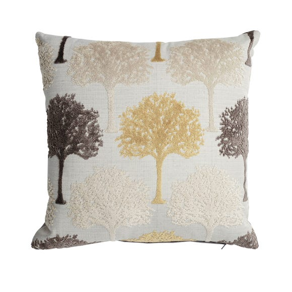 Trees Velvet Cushion MultiColoured
