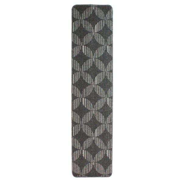 Skyline Damara Geometric Washable Runner Grey