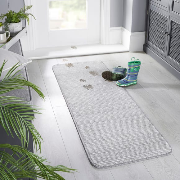 Eleni Washable Runner Grey