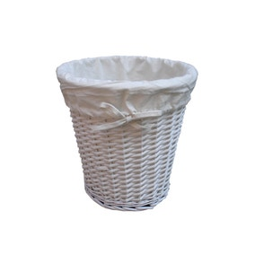 Wicker Waste Bin Painted with Liner