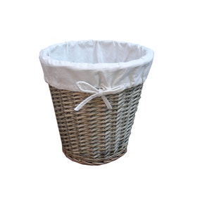 Natural Wicker Waste Bin with Liner