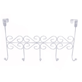 Ornate Chrome Over Door Hooks