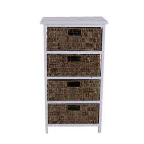 Seagrass 4 Drawer Tower