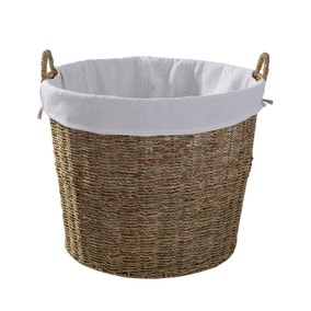 Round Seagrass Log Basket