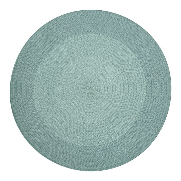 Pack of Two Woven Round Placemats Blue